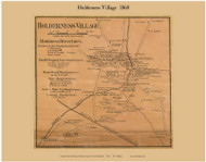 Holderness Village, New Hampshire 1860 Old Town Map Custom Print - Grafton Co.