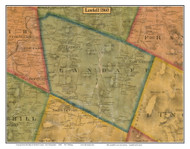 Landaff, New Hampshire 1860 Old Town Map Custom Print - Grafton Co.