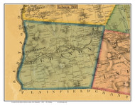 Lebanon  , New Hampshire 1860 Old Town Map Custom Print - Grafton Co.