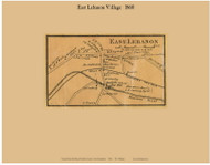 East Lebanon Village, New Hampshire 1860 Old Town Map Custom Print - Grafton Co.