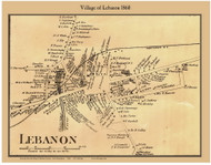 Lebanon Village, New Hampshire 1860 Old Town Map Custom Print - Grafton Co.