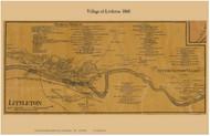 Littleton Village, New Hampshire 1860 Old Town Map Custom Print - Grafton Co.