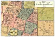 Orford, Wentworth, Lyme, Dorchester, & Groton Poster Map, New Hampshire 1860 Old Town Map Custom Print - Grafton Co.