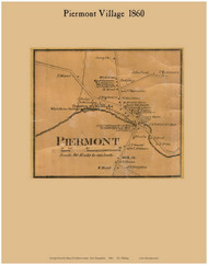 Piermont Village, New Hampshire 1860 Old Town Map Custom Print - Grafton Co.