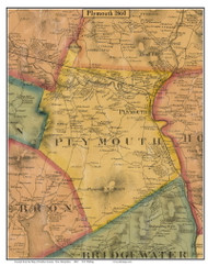 Plymouth, New Hampshire 1860 Old Town Map Custom Print - Grafton Co.