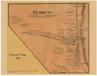 Plymouth Village, New Hampshire 1860 Old Town Map Custom Print - Grafton Co.