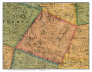 Rumney, New Hampshire 1860 Old Town Map Custom Print - Grafton Co.