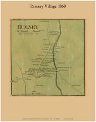 Rumney Village, New Hampshire 1860 Old Town Map Custom Print - Grafton Co.