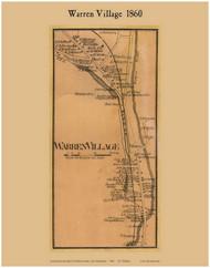 Warren Village, New Hampshire 1860 Old Town Map Custom Print - Grafton Co.