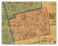Waterville, New Hampshire 1860 Old Town Map Custom Print - Grafton Co.
