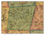Wentworth, New Hampshire 1860 Old Town Map Custom Print - Grafton Co.