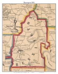 Bennington, New Hampshire 1858 Old Town Map Custom Print - Hillsboro Co.
