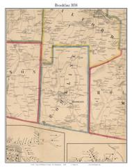 Brookline, New Hampshire 1858 Old Town Map Custom Print - Hillsboro Co.