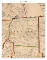 Deering, New Hampshire 1858 Old Town Map Custom Print - Hillsboro Co.