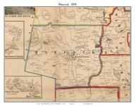 Hancock, New Hampshire 1858 Old Town Map Custom Print - Hillsboro Co.