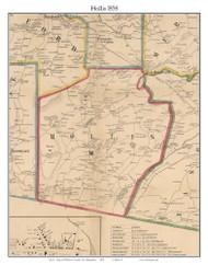 Hollis, New Hampshire 1858 Old Town Map Custom Print - Hillsboro Co.