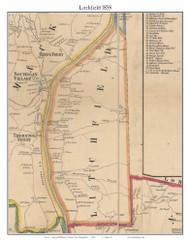 Litchfield, New Hampshire 1858 Old Town Map Custom Print - Hillsboro Co.