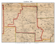 Lyndeboro, New Hampshire 1858 Old Town Map Custom Print - Hillsboro Co.