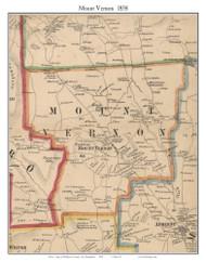 Mount Vernon, New Hampshire 1858 Old Town Map Custom Print - Hillsboro Co.
