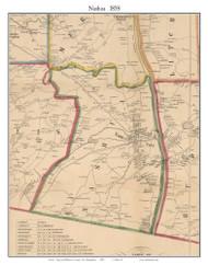 Nashua, New Hampshire 1858 Old Town Map Custom Print - Hillsboro Co.