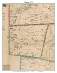 Sharon, New Hampshire 1858 Old Town Map Custom Print - Hillsboro Co.