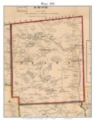 Weare, New Hampshire 1858 Old Town Map Custom Print - Hillsboro Co.