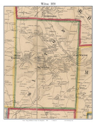 Wilton, New Hampshire 1858 Old Town Map Custom Print - Hillsboro Co.