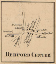 Bedford Center, New Hampshire 1858 Old Town Map Custom Print - Hillsboro Co.