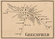 Greenfield Village, New Hampshire 1858 Old Town Map Custom Print - Hillsboro Co.