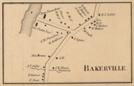 Bakerville - Manchester, New Hampshire 1858 Old Town Map Custom Print - Hillsboro Co.