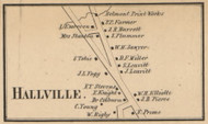 Hallville - Manchester, New Hampshire 1858 Old Town Map Custom Print - Hillsboro Co.