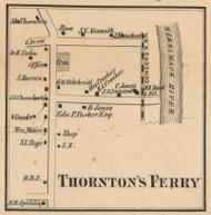 Thorntons Ferry - Merrimack, New Hampshire 1858 Old Town Map Custom Print - Hillsboro Co.
