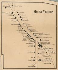 Mount Vernon Village, New Hampshire 1858 Old Town Map Custom Print - Hillsboro Co.