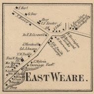 East Weare Village, New Hampshire 1858 Old Town Map Custom Print - Hillsboro Co.