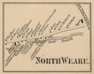 North Weare Village, New Hampshire 1858 Old Town Map Custom Print - Hillsboro Co.