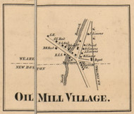 Oil Mill Village - Weare, New Hampshire 1858 Old Town Map Custom Print - Hillsboro Co.