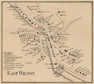 East Wilton Village, New Hampshire 1858 Old Town Map Custom Print - Hillsboro Co.