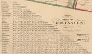 Table of Distances, New Hampshire 1858 Hillsboro Co.