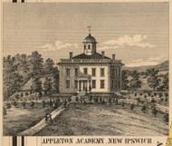 Appleton Academy, New Hampshire 1858 Hillsboro Co.