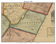 Allenstown, New Hampshire 1858 Old Town Map Custom Print - Merrimack Co.