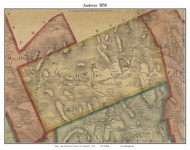 Andover, New Hampshire 1858 Old Town Map Custom Print - Merrimack Co.