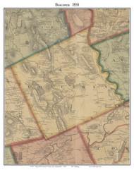 Boscawen, New Hampshire 1858 Old Town Map Custom Print - Merrimack Co.