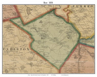Bow, New Hampshire 1858 Old Town Map Custom Print - Merrimack Co.
