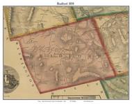 Bradford, New Hampshire 1858 Old Town Map Custom Print - Merrimack Co.