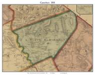 Canterbury, New Hampshire 1858 Old Town Map Custom Print - Merrimack Co.