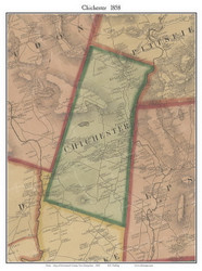 Chichester, New Hampshire 1858 Old Town Map Custom Print - Merrimack Co.