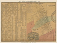 Concord City and Business Directory, New Hampshire 1858 Old Town Map Custom Print - Merrimack Co.
