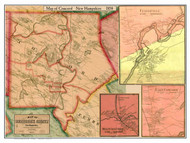 Concord Town & Village Poster, New Hampshire 1858 Old Town Map Custom Print - Merrimack Co.