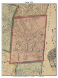 Epsom, New Hampshire 1858 Old Town Map Custom Print - Merrimack Co.