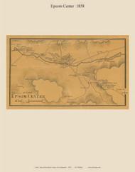 Epsom Center Village, New Hampshire 1858 Old Town Map Custom Print - Merrimack Co.